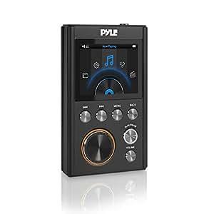 Pyle 新一代 HiFi 数字无损高分辨率音乐播放器 - 便携式高分辨率数字音频播放器带 USB 驱动器/128 GB *大微型 SD 读卡器,支持多种音频格式 PDAP18BK