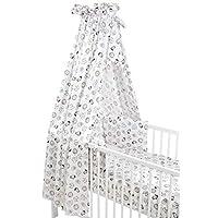 Meyco 421056 全套套装,适用于摇篮 4 件,ANIMAL,白色