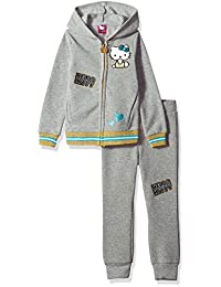 Hello Kitty Girls' Fleece Active Set with Multiple Patches and Prints