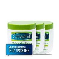 Cetaphil 丝塔芙 保湿霜 适用于干燥/敏感性皮肤,无香料 16 盎司 16 oz (Pack of 3)