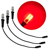 3 只装红色特殊效果 LED 12 伏直流 带泡沫木安装电缆套筒 DC 桶连接器适用于主题环境道具剧院风景火焰