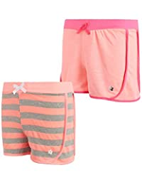 Limited Too Girls Active 短裤 - 轻质法国厚绒布时尚海豚短裤(2 件装)