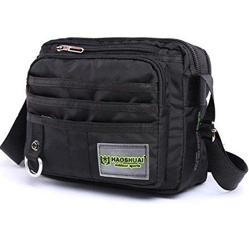 JAKAGO Small Waterproof複数のポケットがあるクロスボディメンズショルダーバッグ