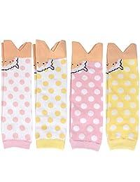 长筒袜【婴儿用品】卫生巾 防寒・空调・*措施! 0~4岁左右 暖腿护膝4色套装