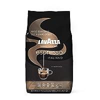 LAVAZZA 意式浓缩咖啡全豆咖啡混合,中度烘培,2.2磅/1千克袋装(包装可能有所不同)