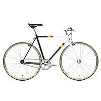 State Bicycle 4130 - Van Damme | 双层铬钼钢框架支架和内部电缆布线 - 固定齿轮/单速| 62cm 立管杆