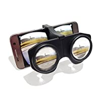 Funsparks - MINI Plastic Foldable 3D VR Glasses with HD VR Lens, Virtual Reality Headset, Compatible with Android & iOS Smartphones within 3.5-6 inches (Black)
