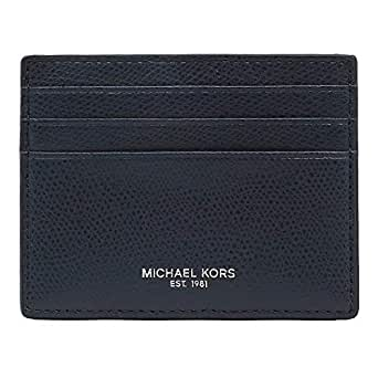 Michael Kors 迈克高仕 男式超薄皮革卡包 Navy Saffiano Small