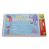 教学树教室证书 - 生日快乐海洋生物 - 20 片