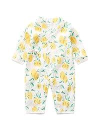 SeVEN YOUNG 婴儿和服连衫裤棉纱长袍新生儿婴儿连体衣夏季日本睡衣