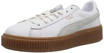 PUMA 女士 Basket 防水台 Euphoria Gum 运动鞋 Puma 白玫瑰金 5.5 M US