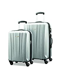"Samsonite Pulse Dlx 轻量级2片 Hardside Set (20""/28""), 银色"