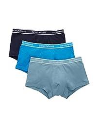 Emporio Armani 安普里奥·阿玛尼男式Core Logoband 平角内裤 3 条装