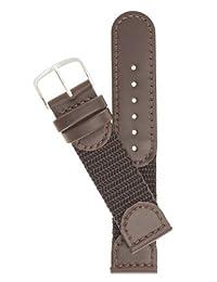男式瑞士军款手表 - 颜色棕色 尺寸:19mm 长手表