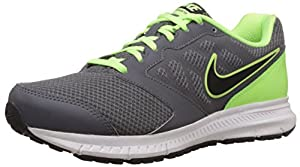 Nike Men's Downshifter 6 MSL Grey and Light Green Running Shoes