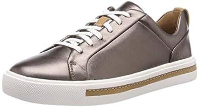 Clarks Un Maui 系带女士运动鞋 Silber (Pebble Metalic) 36 EU