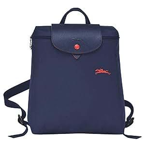 Longchamp 珑骧 女式 织物双肩背包 1699 619 556 藏蓝色 26 * 28 * 10cm