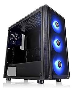 Thermaltake 钢化玻璃版中塔 Tt LCS 认证游戏电脑包CA-1L6-00M1WN-01 J23 TG RGB