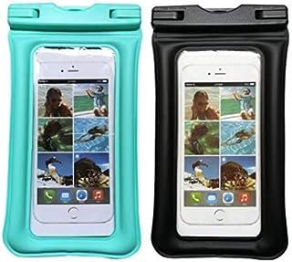 LEAH DALY 2 包通用防水手机袋,防水手机壳 IPX8 可选 TPU 透明干燥袋适用于 iPhone X/8/8 Plus/7/7 Plus Galaxy S8/S7/S6(6.5 英寸)