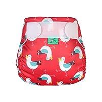 TotsBots 可重复使用游泳软垫,矿色,尺码 2,红色带海鸥