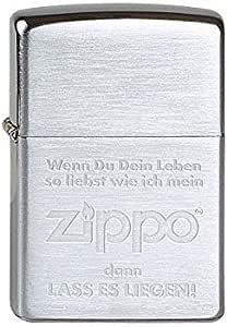 Zippo 1370007 打火机 1600 玫瑰 带面板徽章 Brushed Chrome 1 - Pack 1100019