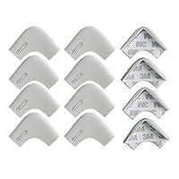 边角保护器,*婴儿防护角靠垫边缘带保护缓冲硅胶防护桌家具保护套带双面 3M 胶带 12Pcs-Grey Corners