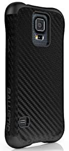 Ballistic Urbanite for Samsung Galaxy S5 - Retail Packaging - Black Carbon Fiber