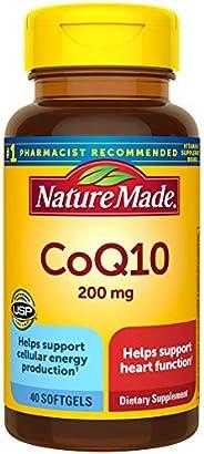 Nature Made CoQ10 软胶囊,有益于心脏,200毫克,40粒?(包装可能会有所不同)