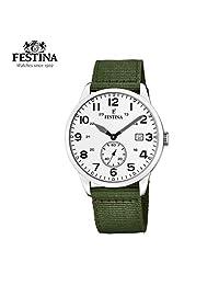 【跨境自营】Festina 法斯蒂納 石英男士时尚腕表,带日历 F20347/1(保税区直发,包邮包税)