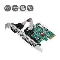 SIIG 单串行端口/RS-232和单并行端口PCIe卡对应16C550 UART(JJ-E20311-S1)