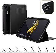 Alpha 保護套 - 2020 iPad Pro 11英寸*二代(新型號) - 非常保護但超薄 + 方便的磁性支架 + */喚醒蓋 - ZUGU CASE 黑色