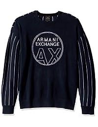 A|X Armani Exchange 阿玛尼男式细条纹套头毛衣