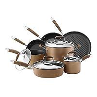 Anolon 高级硬青铜硬阳极氧化防粘炊具套装,11 件套