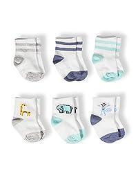 Aden + Anais 6-12 个月丛林果园男孩婴儿袜 - 6 双装
