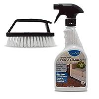 ForceField 布质清洁剂套装:650 ml 专业力力力陆地毯和室内装饰清洁喷雾,手持擦洗刷带手柄细节,适用于家具、衣服等。