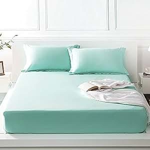FADFAY *店豪华系列高品质 * 天丝 4 件套床单套件深袋床笠 薄荷绿 全部