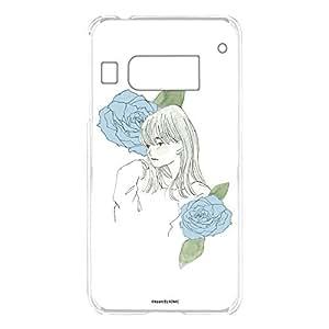 卡丽 壳 透明 TPU 印刷 女孩和玫瑰 智能手机壳 对应全部机型 女の子とバラA 21_ INFOBAR A03 KYV33