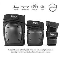 XPRIT 成人/儿童护腕,膝肘部护具 3 合 1 滑板、滑板、自行车的防护装备套装