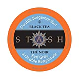 Stash Tea, Double Earl Grey Single-Cup Tea For Keurig K-Cup Brewers, 12 Count (Pack of 6)