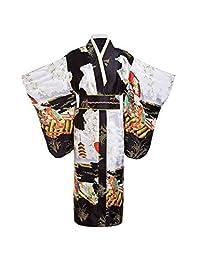 THY COLLECTIBLES 女式丝绸传统日本和服长袍/派对长袍