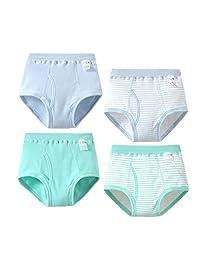 男婴四角裤 儿童棉质内裤 4 条装