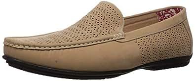 STACY ADAMS 男士 Cicero 穿孔莫卡辛鞋头一脚蹬驾驶风格乐福鞋 灰褐色 8.5 W US