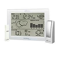 Mobile Alerts MA 10006 套装包括气象站 MA10410(兼容 Alexa)和网关,温度和湿度直接传输到智能手机,白色,12.7 × 3 × 17.1 厘米