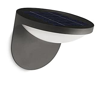 Philips 飞利浦 太阳能 红外 LED 户外壁灯 Dusk 不锈钢 亮黑色