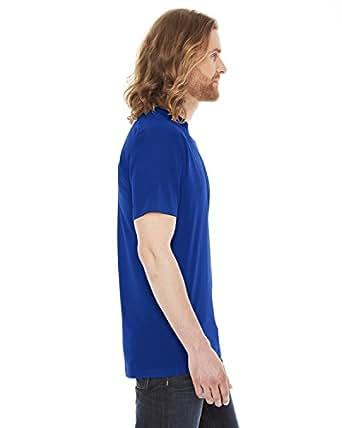 American Apparel mens Unisex 50/50 Short Sleeve Tee(bb401)-LAPIS-M