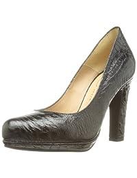 CALZADOS MARIAN 女 经典系列 鳄鱼压纹方跟高跟鞋 7600(亚马逊进口直采,西班牙品牌)