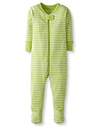 Hanna Andersson 月亮和后背婴儿/幼儿连体*棉连脚睡衣