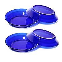 DURALEX 多莱斯 深餐盘19.5cm4只装宝蓝色法国进口