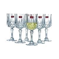 弓箭 CRISTALD ARQUES LONGCHAMP系列高脚杯 白葡萄酒杯170ml 六支装(亚马逊自营商品, 由供应商配送)