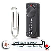 帶20小時的電池壽命的小型語音錄音機 | 非常適合講演、演唱或訪談 | aTTo digital nanoREC